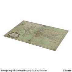 Vintage Map of The World (1778) Cutting Board