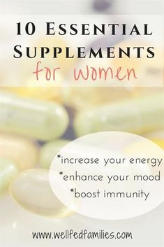 10 Essential Supplements for Women. These vitamins and minerals will make you feel your absolute bes Energy Supplements, Supplements For Women, Best Supplements, Nutritional Supplements, Healthy Women, Healthy Tips, Stay Healthy, Eating Healthy, Healthy Choices