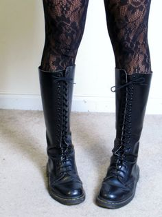 dr. martens classic combat boot | vintage Dr Martens made in england genuine leather tall knee high lace ...