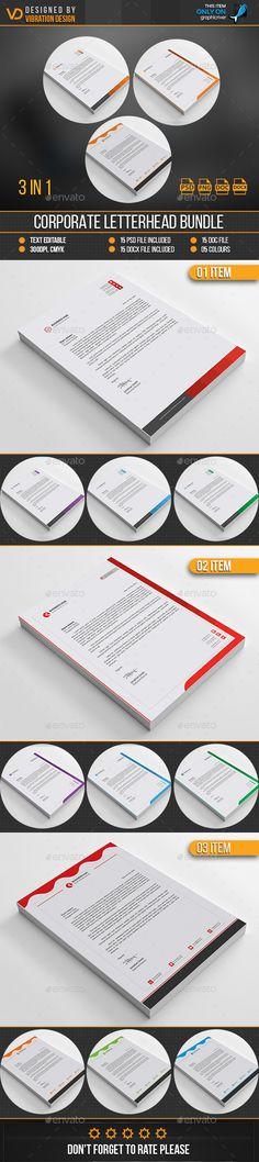 Letterhead Templates Psd Bundle  Letterhead Design Templates