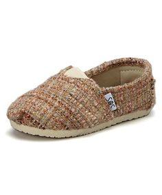 Look at this #zulilyfind! Beige & Gold Stitch Tweed Slip-On Shoe #zulilyfinds