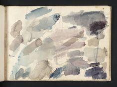 Joseph Mallord William Turner 'Colour Trials',    ---   From Bristol and Malmesbury Sketchbook    ---    1791  -  Watercolour on paper -  Dimensions Support: 185 x 263 mm -  Collection -  Tate