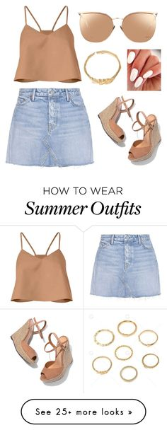 """summer outfit"" by hodandahir on Polyvore featuring TIBI, GRLFRND, Schutz and Linda Farrow"