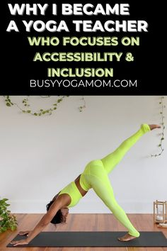 """My teaching mantra is """"Yoga is inclusive, not exclusive."""" That is why my mission is to make yoga accessible and enjoyable for people from all walks of life. Click to learn more about my """"why"""" as a yoga teacher. #yoga #diversity #yogateacher Yoga For Beginners, Beginner Yoga, Yoga Fitness, Health Fitness, Yoga Mom, Free Yoga, Yoga Tips, Yoga Quotes, Yoga Teacher"""