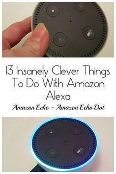 mazon Echo or Echo Dot with Alexa! Alexa Tricks, Amazon Echo Tips, Amazon Gadgets, Amazon Echo Hacks, Amazon Alexa Echo Dot, Alexa Dot, Alexa Alexa, Amazon Dot, Amazon Alexa Skills