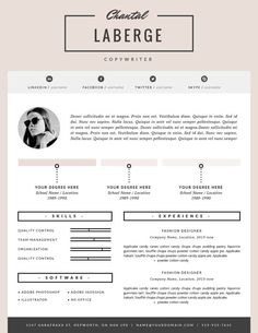 Classic Resume Resume Template Instant Download Resume And Cover