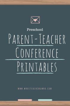 Parent-Teacher Conference Printables