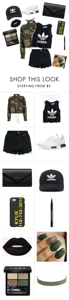 """""""Cool in Camo"""" by recklesschanges ❤ liked on Polyvore featuring Faith Connexion, Madewell, adidas, Balenciaga, adidas Originals, Urban Decay and Gucci"""