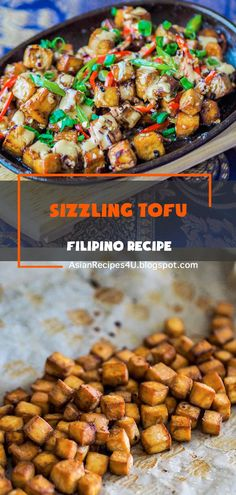 This Filipino sizzling tofu recipe or tofu sisig is inspired by one of the famous restaurant chains in the country called Max and a lot of the locals really enjoy this dish with rice. #Filipino #Recipes #Tofu