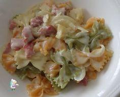 Receta de pasta con salsa de queso y pacenta ahumada casera