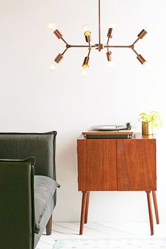 Modern Brass Pendant Lamps. / sfgirlbybay locust metal pipe pendant lamp from urban outfitters