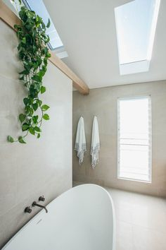 I pinned a few photos of this particular bathroom which i really like. I love the tile, size wise (very large) and colour wise, i. warmer than the colour of my other bathroom pins which are grey. Laundry In Bathroom, Bathroom Renos, Master Bathroom, Tranquil Bathroom, Loft Bathroom, Retro Home Decor, Fall Home Decor, Home Decoration, Decorations