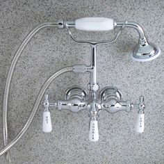 Barclay 4025-PL Mounted Hand Held Clawfoot Tub and Shower Filler - Fixture Universe