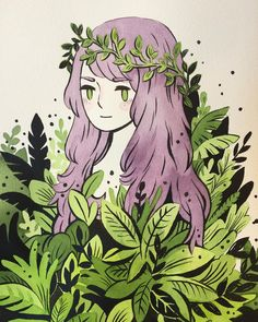 "3,195 Me gusta, 13 comentarios - Heikala (@heikala) en Instagram: ""Terra #watercolor #illustration #plants """