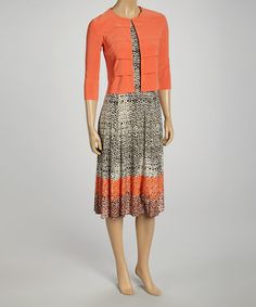 Look what I found on #zulily! Orange & Black Dress & Blazer - Petite by Julian Taylor #zulilyfinds