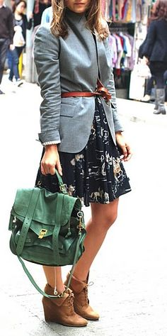 Cute fall outfit - just add tights