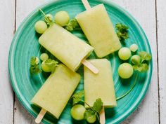 Honeydew Melon and Cilantro Ice Pops Recipe : Food Network Kitchen : Food Network