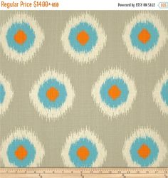 End of Year Sale Premier Prints Ikat Domino Dossett Mandarin - Pillow Covers - Multiple Sizes - Bottom Invisible Zipper Closure