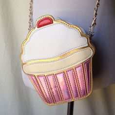 Sweet Cupcake Crossbody Very cute purse! One left. Shiny front pattern zipper on top. Can fit phone, keys, and small essentials. Elegant and light weight. Very much for the kawaii chic girl. Bags Crossbody Bags