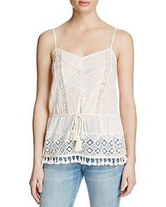 FRENCH CONNECTION Florence Tassel-Detail Top