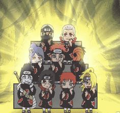 Adorable Akatsuki Gif... I flipped and went onto the floor while fangirling... So worth it the weird looks tho