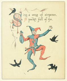 Sing a Song of Sixpence, Illustration by Walter Crane. From The Song Of Sixpence Picture Book, London & New York, 1909. Via archive.org