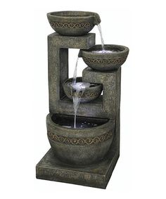 Look what I found on #zulily! Gray Mystic Bowls LED Fountain #zulilyfinds