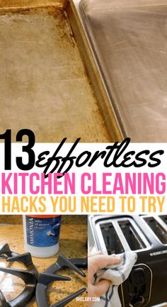 Excellent Screen 13 Kitchen Cleaning Hacks You'd Be Crazy Not To Try Right Away Popular It would appear that shiny faucets attract lime deposits and soap scum like magnets! Baking Powder For Cleaning, Baking Soda Baking Powder, Baking Soda Beauty Uses, Baking Soda Uses, Oven Cleaning, Cleaning Hacks, Kitchen Cleaning, Kitchen Hacks, Putz Hacks