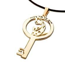 Key of Destiny Gold A Symbol of Acceptance Jewel's Intention: Find acceptance and a more fulfilled life through destiny Size : 2.0cm/3.5cm -  .8Inch/1.4Inch Metal: Solid Gold 14k Yellow. Please click on the image to order. Price: $279