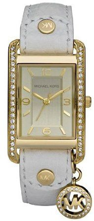 Michael Kors - Quartz White Leather with Gold Dial Women's Watch - MK2213-- 14% DISCOUNT for a limited time!--->  http://amzn.to/12jX4me