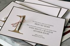 1st birthday invitation - Click image to find more hot Pinterest pins