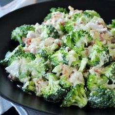Broccoli Haters Broccoli Salad - Some people say they just don't like broccoli. But Before you decide you won't like this broccoli salad, try it. It's easy to make and nothing ventured, nothing gained. Fresh Broccoli, Broccoli Salad, Blanching Broccoli, Brocolli, Broccoli Recipes, Most Popular Recipes, Favorite Recipes, Amazing Recipes, Facebook Recipe