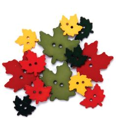 Favorite Findings Buttons-Falling Leaves 12/pkg