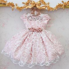 Baby Girl Party Dresses, Little Dresses, Little Girl Dresses, Girls Dresses, Flower Girl Dresses, Frocks For Girls, Kids Frocks, Little Girl Fashion, Kids Fashion