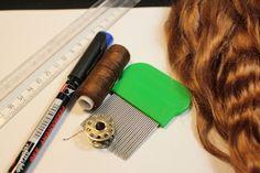 МК  волосы для куклы