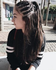 110 modern side braid hairstyles for women -page 27 Side Braid Hairstyles, Medium Bob Hairstyles, Bob Haircuts, Ethnic Hairstyles, Hairstyles Pictures, Hairdos, Curls For Long Hair, Braids For Short Hair, Long Hairstyles