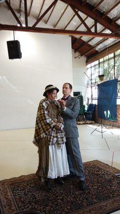 Actors Irene Lucio and Anthony Fusco at Pygmalion photo shoot.