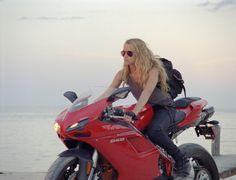 Ducati <3 a girl on a bike