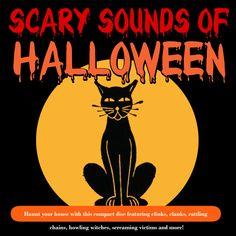 Scary Sounds of Halloween - K-Tel Spooky Music, Halloween Music, Outdoor Halloween, Halloween Night, Spooky Halloween, Holidays Halloween, Halloween Decorations, Halloween Tricks, Halloween Ideas