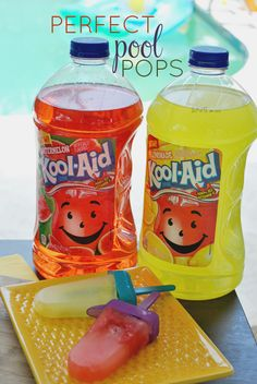 Cool off with these Kool-Aid Fruit Juice Pops! It's an easy recipe that requires Kool-Aid, fresh fruit, and popsicle molds. What flavor will you freeze?