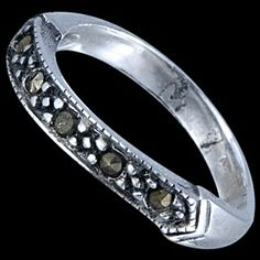 Sterling silver ring, marcasite