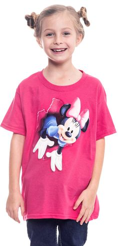 Disney Minnie Mouse Girls T-Shirt Pink