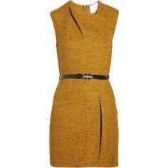 3.1 Phillip Lim Pleated tweed dress ❤ liked on Polyvore