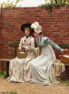 The Sisters. 1909 (detail) Edmund Blair Leighton (British, 1852 - 1922)