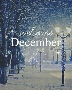 Welcome December!!!!  ;)