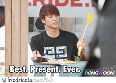 Dongwoon, the Bug Hater....... Which ever fan gave him that, I love you. I love you, so very much! You're brilliant!
