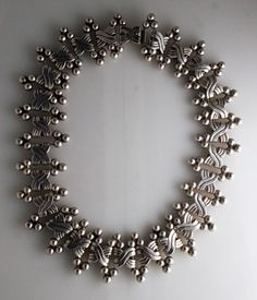 Necklace    Hector Aguilar. 'Six Sphere'.  Sterling silver.  Pre 1950.  Mexico.