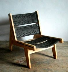 Wish I could find an actual link to this, but great idea. Reusing old tires to make a comfy seat or bench! Genius!