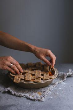 Whole Wheat Apricot Lattice Pie