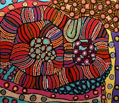 THE ARTERY Aboriginal Art - Esther paints bold traditional designs associated with women Painting Inspiration, Art Inspo, Aboriginal Dot Painting, Didgeridoo, Colourful Art, Product Shot, Indigenous Art, Contemporary Artwork, Easter Treats